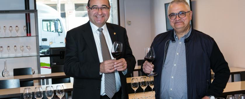 foto de Joan Tarrada. president de Tastavins Penedès i Pere Chias, president del Gremi de restauradors-2